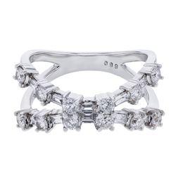 0.99 CTW Diamond Ring 18K White Gold - REF-99Y3X