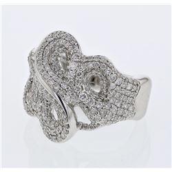 1.37 CTW Diamond Ring 14K White Gold - REF-135W3H