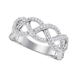 0.50 CTW Diamond Woven Ring 10KT Yellow Gold - REF-37N5F
