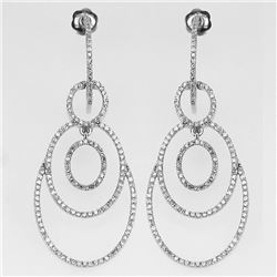 1.06 CTW Diamond Earrings 14K White Gold - REF-72N6Y