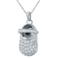 1 CTW Diamond Necklace 14K White Gold - REF-105M3F