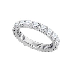 3.02 CTW Diamond Wedding Ring 14KT White Gold - REF-344N9F