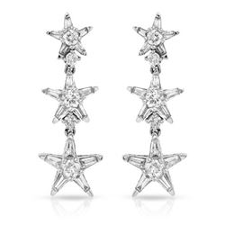 1.36 CTW Diamond Earrings 14K White Gold - REF-126R6K