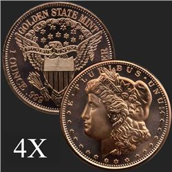 1 oz Morgan .999 Fine Copper Bullion Round