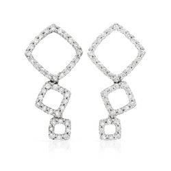 0.42 CTW Diamond Earrings 14K White Gold - REF-31R3K