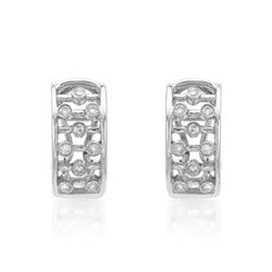 0.24 CTW Diamond Earrings 14K White Gold - REF-40W5H