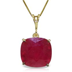 Genuine 6.75 ctw Ruby Necklace Jewelry 14KT Yellow Gold - REF-64T4A