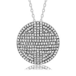 0.29 CTW Diamond Necklace 14K White Gold - REF-28W3H