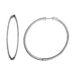 0.98 CTW Diamond Earrings 14K White Gold - REF-84F9N