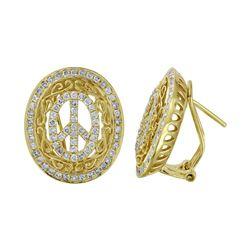 1.27 CTW Diamond Earrings 14K Yellow Gold - REF-107W2H