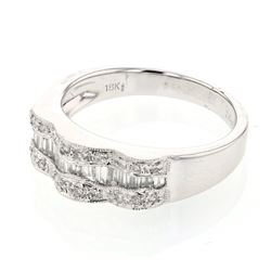 0.57 CTW Diamond Ring 18K White Gold - REF-82H7M