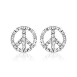 0.95 CTW Diamond Earrings 14K White Gold - REF-57M6F