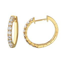 1.52 CTW Diamond Earrings 14K Yellow Gold - REF-140H8M