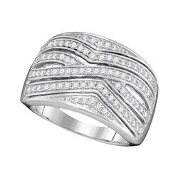 0.50 CTW Diamond Fashion Ring 10KT White Gold - REF-37Y5X