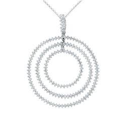 1.19 CTW Diamond Necklace 14K White Gold - REF-71X3R