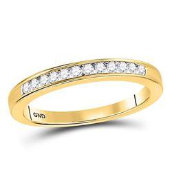 0.15 CTW Diamond Wedding Ring 14KT Yellow Gold - REF-22Y4X