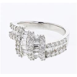 1.89 CTW Diamond Ring 18K White Gold - REF-169X6R