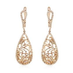 0.69 CTW Diamond Earrings 14K Rose Gold - REF-51K4W