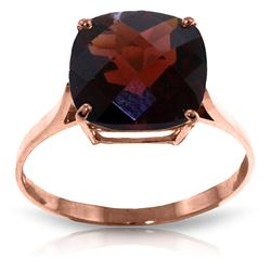 Genuine 4.5 ctw Garnet Ring Jewelry 14KT Rose Gold - REF-37P8H