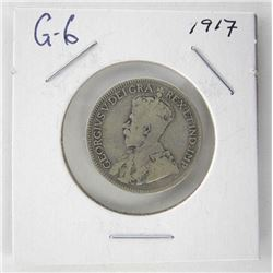 1917 Canada 25 Cent. G6. George V