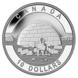 $10 - 2014 The Igloo - O Canada .9999 Fine Silver.