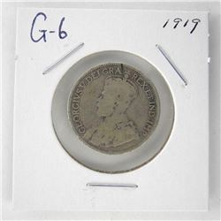 1919 Canada 25 Cent. G6. George V