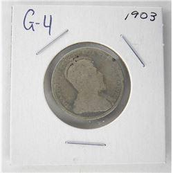 1903 Canada 25 Cent. G4. Edward