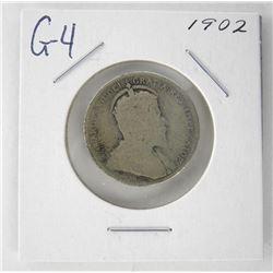 1902 Canada 25 Cent. G4. Edward