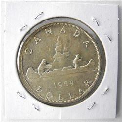 1959 Canada Silver Dollar