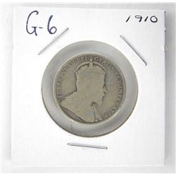1910 Canada Silver 25 Cent. G-6