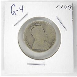 1909 Canada Silver 25 Cent. G-4