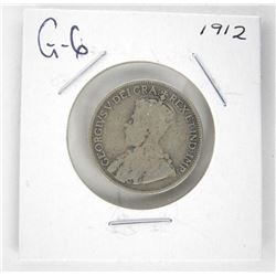 1912 Canada Silver 25 Cent. G-6