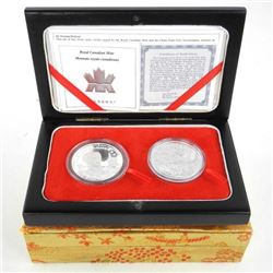 'Norman Bethune' in China 2 Silver Coin Set. Canad