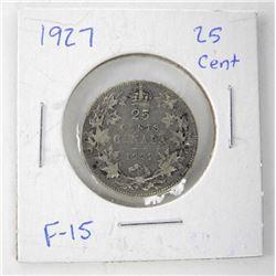 1927 Canada 25 Cent. F-15