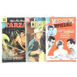 Estate Lot (3) DELL Vintage Comics - Tarzan, Cheye