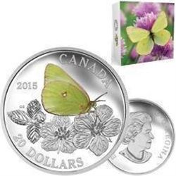 2015 - $20.00 Fine Silver Coin, 'Butterflies of Ca