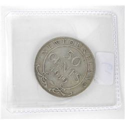 1919 NFLD 925 Silver 50 Cents