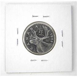 1946 Canada 25 Cent. 'BU' (CR)
