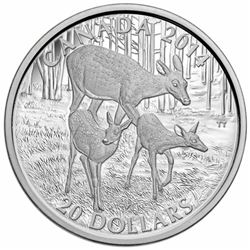 2014 $20 The White-Tailed Deer: A Doe and her Fawn