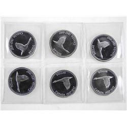 Lot (6) 1867-1967 Silver Dollar 'PL'
