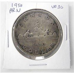 1950 Canada Silver Dollars. VF30
