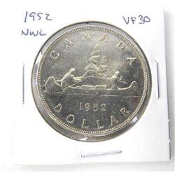 1952 Canada Silver Dollars. NWL. VF30