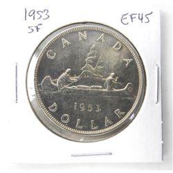 1953 Canada Silver Dollars. SF. EF45