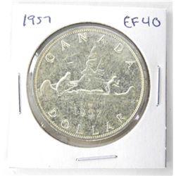 1957 Canada Silver Dollars. EF40