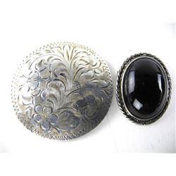 Estate Lot (2) Silver Pins