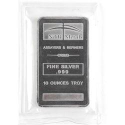 .9999 Fine Pure Silver 10 Ounces Troy Bar