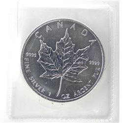 2013 .9999 Fine Silver Maple Leaf $5.00 Coin 1oz