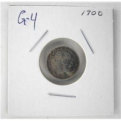 1900 Victoria 925 Silver 5 Cent G-4