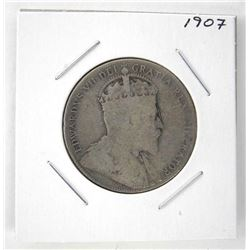 1907 Silver 50 Cents Coins Edward