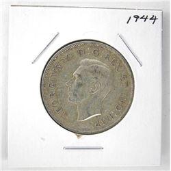 1944 George VI Canada Silver 50 Cent Coin